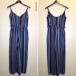 Splendid striped linen blend jumpsuit